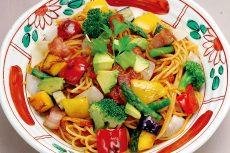 ナスとアボガド、たっぷり野菜のトマトソース